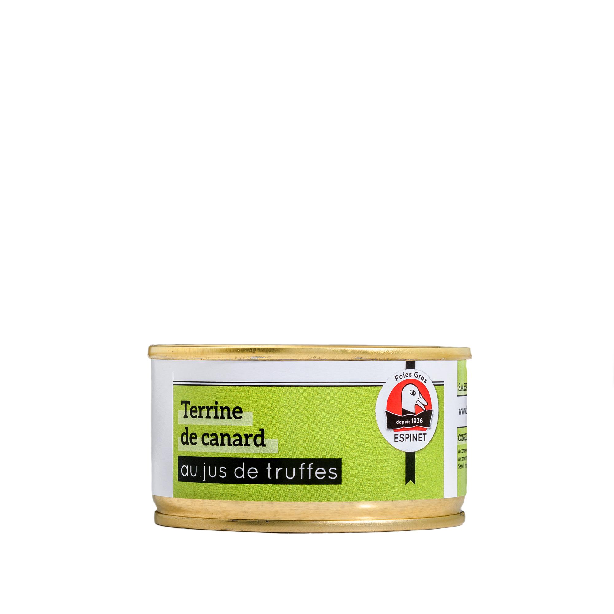 Terrine De Canard Au Jus De Truffes 130g Boutique En Ligne Foie Gras Espinet